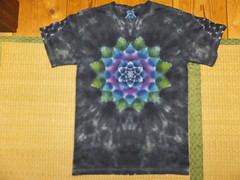 psychedelic mandala tiedye tee (asiadyer) Tags: japan japanese tie tshirt mandala symmetry textile sacred tiedye psychedelic tee shibori psychedelica sacredgeometry mangekyo japanetsy mandalatiedye