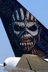 Iron Maiden Eddie mascot TF-AAK (Manuel Negrerie) Tags: rock ed mascot eddie boeing ironmaiden boeing747 hardrock b747 cdg brucedickinson b747400 tfaak