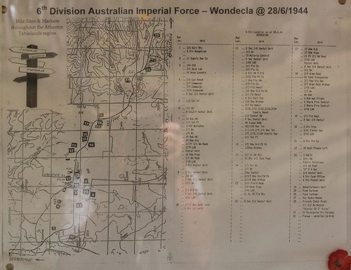 Map of 6th Division Camp, Wondecla