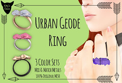 **New** Kitty's Claws: Urban Geode Ring (Kitty Revolver) Tags: boobs metallic ring secondlife geode naturalstone secondlifefashion secondlifejewelry kittysclaws