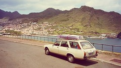Salty's Best Friends - Our minivan (Salty_Madeira) Tags: surfer salty minivan madeira bestfriends peugeot504 madeiraisland dogsurf saltybestfriends minivansurf