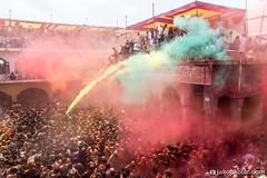 Color Blast (Jakob Kolar) Tags: street travel portrait india water colors face festival asia colours religion ceremony celebration hindu indien colorfestival mathura holifestival vrindavan uttarpradesh festivalofcolours huranga