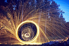 20150809 Vortex () (Light painting, Lightgraffitti, Long exposure, lig) Tags: longexposure lightpainting slowshutter lighttrail steelwool lightpaint firepainting lightgraffitti lightpaintingphotography