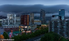 Wolken boven Rotterdam (@mvkooten) Tags: storm skyline rotterdam district central thunderstorm calypso weer schouwburgplein lijnbaan