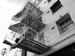 Venice Beach Silhouettes (johnmartin25) Tags: venicebeach hotel stairs stairway fireescape