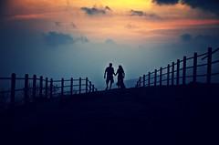 the WALK (praWiN !!..) Tags: sunset sky india love evening nikon couple pune patil sangli prawin d7000 plicks