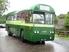 North Weald plays host to LT GreenLine AEC Regal IV RF180 bus on 12.06.16 (Trevor Bruford) Tags: bus london heritage north transport railway greenline iv epping regal lt weald aec ongar eor rf180