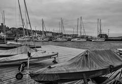 20160616_Still light at 10 (Damien Walmsley) Tags: light sea summer blackandwhite boats lerwick shetlandislands longdays
