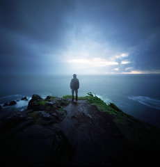 The nature of never being completely gone (Zeb Andrews) Tags: ocean longexposure selfportrait 6x6 film oregon mediumformat square landscape pinhole pacificnorthwest oregoncoast lensless analogphotography kodakektar100 realitysosubtle6x6