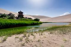 Crescent Moon Lake, Dunhuang, Gansu Province, China (goneforawander) Tags: china travel nikon scenery asia desert historic backpacking silkroad gansu dunhuang d7100 goneforawander dunhuan enzedonline