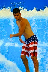 Flow-Rider man (LarryJay99 ) Tags: blue hairy man male men guy feet wet water pits fence goatee toes pattern nipples arms legs guys dude butts hollywood barefoot torso splash waterfeature dudes bellybutton navel seashore hairylegs blackmale armpits sportswear barfuss tagline hairyman wavers canonpowershots110 flowrider peekingpits 52260mm