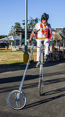 don't mess with elvis (pbo31) Tags: california summer white color bike june nikon dress clown fame elvis fair suit odd unicycle bayarea cape tall eastbay performer pleasanton grounds alamedacounty impersonator 2016 boury pbo31 d810