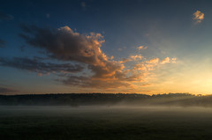 Three photograpers in the field (k.tusnio) Tags: morning sky cloud nature grass sunrise landscape nikon photographers poland hdr plener 14mm samyang d5100