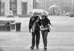 Happiness is a simple thing sometimes (Petricor Photography) Tags: street people blackandwhite white black milan rain photography candid milano and raining canonpersonalconnection