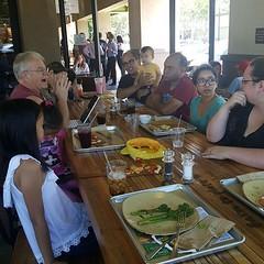 Dot Com book club meetup at Urban Plate. Good food with good book.
