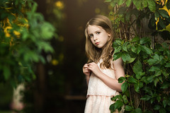 theoldnecklace (LinnMarlen) Tags: portrait girl beautiful canon pretty child serious sweet