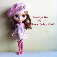 Special gift for Blythecon Sydney 2013 #blytheconsydney #blythe #blythedoll (Sweet-by-Nim) Tags: square squareformat blythe blythedoll birdieblue blythedress iphoneography instagramapp uploaded:by=instagram blytheconsydney2013