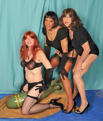 Triple Threat! (kaceycd) Tags: stockings pumps highheels tgirl gloves bodysuit stilettoheels pantyhose crossdress nylon spandex tg leotard stilettos nylons garterbelt garters suspenderbelt operagloves ffstockings sexypumps stilettopumps rhtstockings