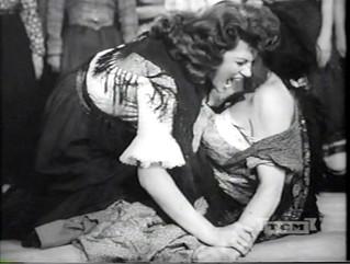 Rita Hayworth;  Cat Fight in ''The Loves of Carmen'' 1948