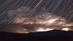 Lightning under the Stars (Jeffrey Sullivan) Tags: california copyright storm jeff nature weather night clouds canon landscape photography star photo timelapse mark iii nevada trails stormy april 5d lightning sullivan bridgeport sweetwater 2012