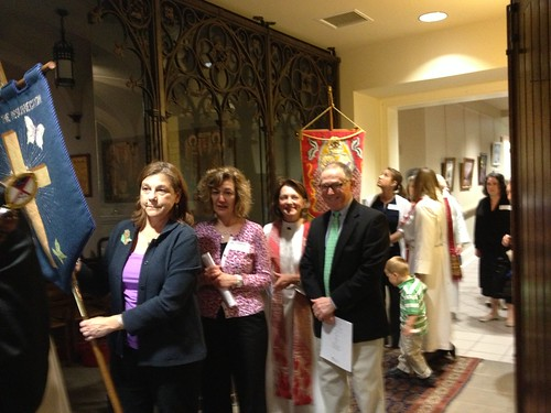 <p>Procession lines up for the first Diocesan confirmation service</p>