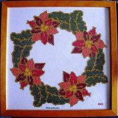 Weihnachtskranz (Regine1959) Tags: crossstitch sticken kreuzstich