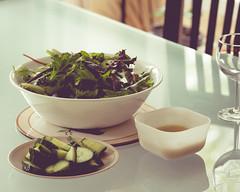 (nick|ma) Tags: food leaves salad cucumber dinnertable saladdressing vinaigrette 135mmf2l canon6d