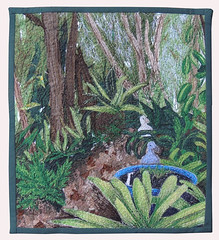 Ducks in the Garden (bekahdu) Tags: art garden quilt ducks textile fiber fibre threadpainting