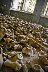 Gas masks in Chernobyl elementary (MoraTilTordis) Tags: school radiation gas masks disaster second elementary chernobyl