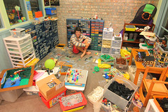 Organized Mess (Carson Hart) Tags: house chart color building colors carson photography mess lego box bricks indoor hart build sort drawers organize sorting