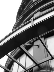Abstract Building (shaire productions) Tags: street urban blackandwhite bw abstract building lines architecture photography photo blackwhite image artistic curves picture shapes angles pic structure architectural line photograph elements imagery sherriethai architural shaireproductions shaireproductionscom