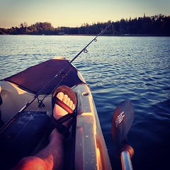Little Traverse 'yak Fishin (matthewkaz) Tags: vacation me water square fishing kayak michigan greatlakes squareformat 2013 kayakfishing littletraverselake maplecity iphoneography instagramapp xproii uploaded:by=instagram northernbliss