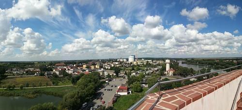 Panorama miasta Kruszwica  z Mysiej WIeży