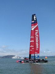 America's Cup: New Zealand Boat (shaire productions) Tags: ocean sf sanfrancisco sports water race photography boat photo sailing image picture photojournalism documentary pic racing photograph boating sail sfbayarea americascup imagery photojournalistic