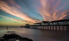 Southwold Pier (grbush) Tags: longexposure sea seascape water pier suffolk seaside southwold southwoldpier sigma1770 sonyslta77