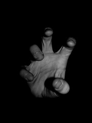 Reaching Out To Haunt You! (Trevor Finnell) Tags: white black home photography grey photo key photographer hand image zoom kodak body 5 five flash low fingers indoor human illusion adobe lightroom amatuer z740