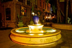 Azusa Fountain (Sixgunz Photography) Tags: california fountain cali canon la losangeles noflash slowshutter canonrebel fountains southerncalifornia azusa losangelescounty canoncamera noflashphotography noflashphoto canonrebelt1i azusaave congregationalehouse cityofazusa
