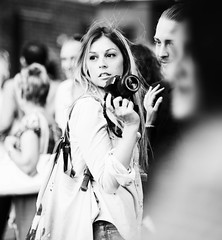 DSC_5422-Edit.jpg (Luminor) Tags: life street camera uk england people bw woman white black brick slr london love beautiful lady square eyes nikon europe pretty photographer bokeh f14 candid 85mm full lane frame blonde gb local 500views scenes reallife photogenic streetphotgraphy lifeinlondon shotwideopen d700 cinematciphotography