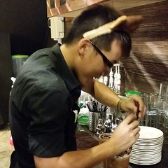 "@arwaileong Reindeer barista making you cool ice blended beverages here! <a style=""margin-left:10px; font-size:0.8em;"" href=""http://www.flickr.com/photos/108467722@N02/11450941775/"" target=""_blank"">@flickr</a>"