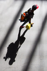 everything he needs (donvucl) Tags: morning urban colour london youth shadows skateboard kingscrossstation comp diagonals donvucl