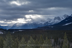 Sun Rays over the Rockies (adamhillstudios) Tags: winter canada mountains rockies