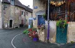 Colorfull corner (Kari Siren) Tags: street france les corner village bains salins