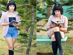 Senior High Portrait (photographybyrenchi) Tags: portrait youth reading book outdoor philippines 85mm naturallight highschool filipina onlocation seniors marikina seniorhigh metromanila seniorportrait creativeshot d7100