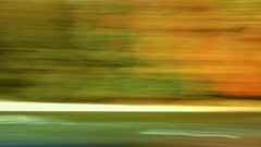 Isar in motion   16:9 (pepperminded) Tags: autumn orange abstract motion blur green river germany munich mnchen deutschland colorful herbst panning 169 cameramovement flus