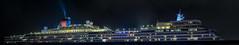 m/s queen elizabeth (pbo31) Tags: sanfrancisco california city cruise panorama black color night nikon large embarcadero cruiseship stitched cunard febuary 2014 pier35 d700 msqueenelizabeth