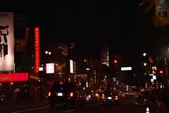 Hollywood at night