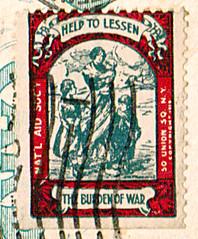 First World War Charity Seal (RV Bob) Tags: charity war wwi gimp stamp worldwari seal worldwarone ww1 firstworldwar worldwar1 nationalaidsociety