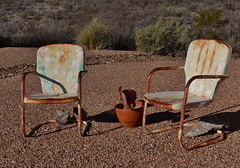 Rusty Relics (MSSQUID) Tags: arizona chair rust desert seat tombstone rusty salvage relic