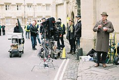Endeavour filming (Bossnas) Tags: film asda tv nikon kodak oxford hawkeye filming fm2 5014 endeavour c41