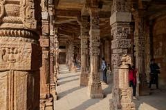 Ornate columns (johnpaulsimpson) Tags: india delhi sony islam columns cybershot carving islamic qutabminar 2014 quwwatulislammosque akaltakht rx100m2